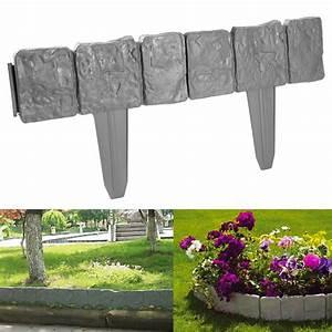 10, 20, 30, Stone, Effect, Edge, Plastic, Garden, Lawn, Edging, Border, Divider
