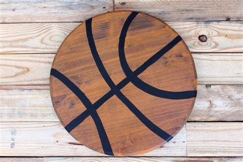 Full size of furniture:sports themed furniture boys room basketball decorating ideas football luxury 23. Basketball Wall Decor. Vintage Handpainted Basketball. Great for Sports Themed Man Cave ...