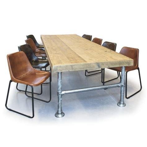 aanbieding eettafel met stoelen abbev 233 steigerhouten eettafel met steigerbuis frame