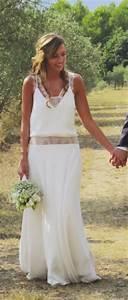 Robes De Mariée Bohème Chic : robes boheme chic pour mariage ~ Nature-et-papiers.com Idées de Décoration