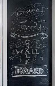 How to Make a SMOOTH Chalkboard Wall {For Imperfect Walls