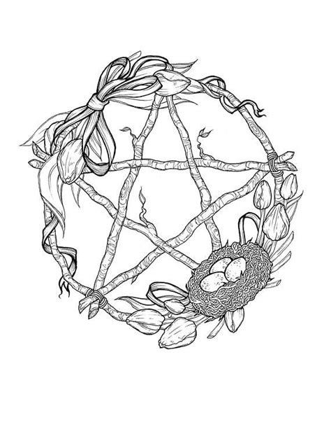 Wheel of the Year Sabbat Pentagram Wreath Prints | Etsy