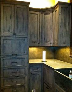 Gray Kitchen Cabinets Distressed