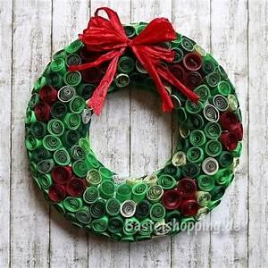 Weihnachtskranz Für Tür : bastelidee f r weihnachten weihnachtskranz mit gequilltem papier ~ Sanjose-hotels-ca.com Haus und Dekorationen