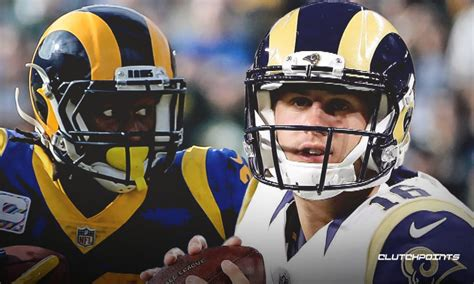 rams news jared goff expects todd gurley    big