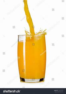 Orange Juice Flow In A Glass Stock Photo 113911573