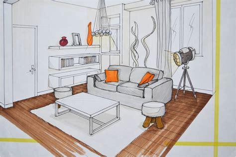 dessiner une cuisine en perspective dessin de linterieur dune maison en perspective