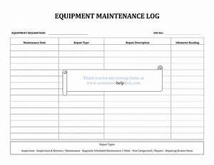best photos of equipment repair sheet maintenance repair With machine maintenance log template