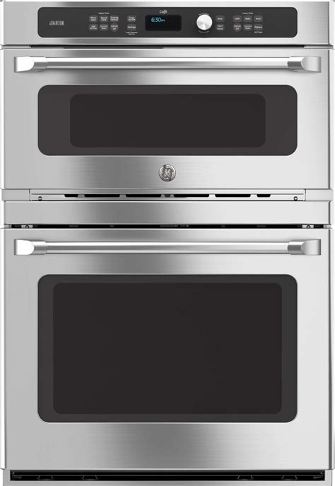 ctshss ge cafe series  combination double wall oven stainless steel