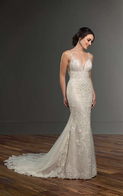 Glamorous Wedding Dress with Beading | Martina Liana