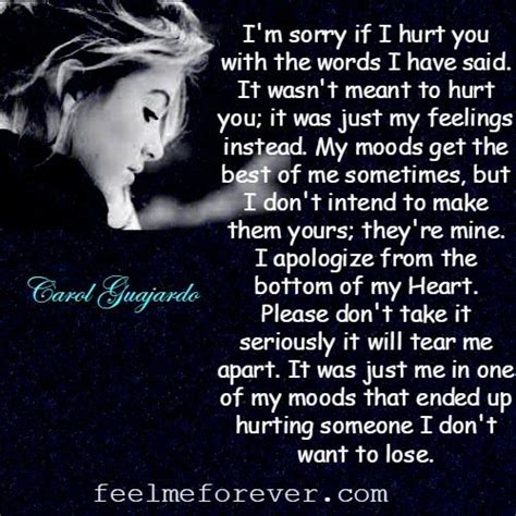 Im Sorry Hurt You Quotes