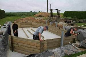 comment installer une piscine semi enterree With piscine bois semi enterree installation