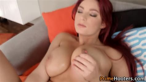 Busty Natural Redhead Solo