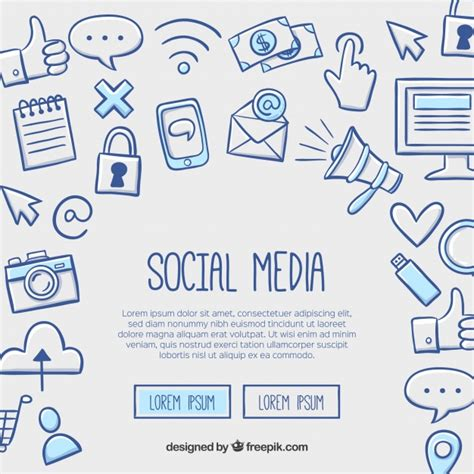 Social Media Background Social Media Background In Style Vector Free