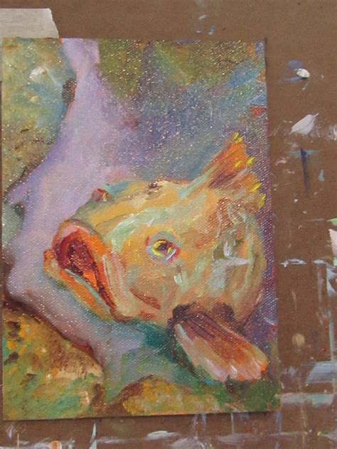 grouper painting paintings delilah oil daily colors