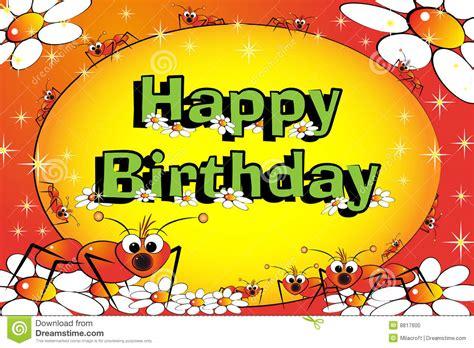 clipart compleanno bambini formiche fiori e stelle scheda di compleanno