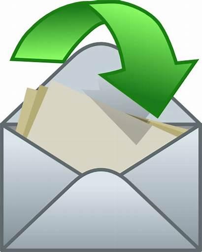 Envelope Close Clip Clipart Arrow Vector Open