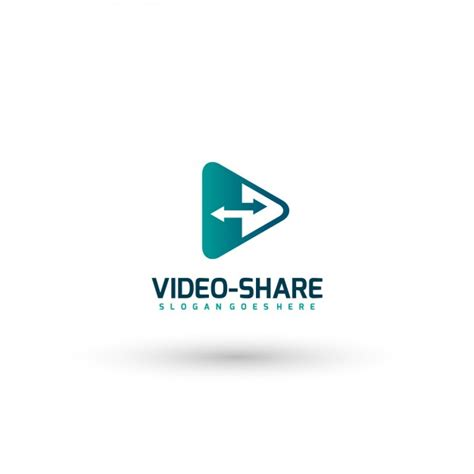 video template foto video share logo template vector free download