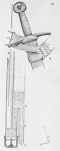 Diagram of medieval sword belt, one style of fastening ...
