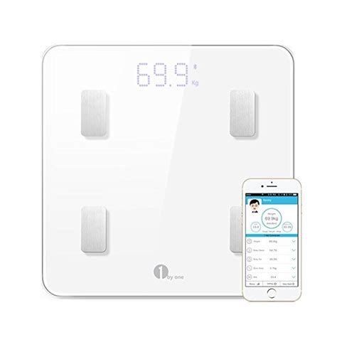 Bathroom Scale Android App by 1byone Digital Weight Bathroom Scale Bluetooth Smart