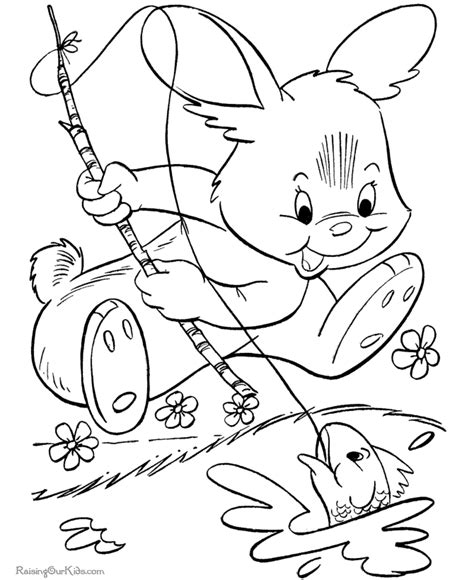 easter pictures to color and print easter bunny picture to print and color