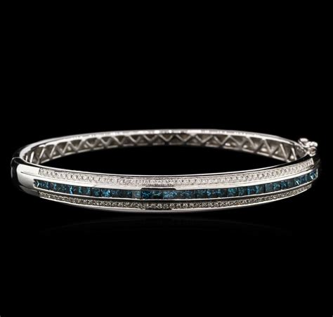 201ctw Fancy Blue Diamond Bangle Bracelet  14kt White Gold. Bond Bands. Modern Gold Necklace. Arabic Engagement Rings. Citrine Jewelry. Micro Pendant. Kidney Earrings. Expensive Gold Bracelet. Cable Chain Necklace