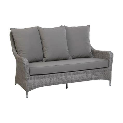 canapé 2 places pour salon de jardin en résine tressée