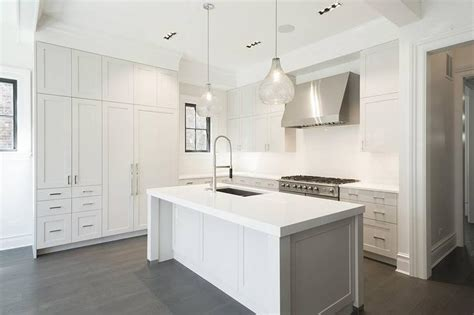 kitchen islands white white kitchen island with two seeded glass pendants