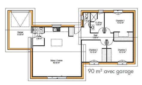 plan maison 100m2 plein pied 3 chambres plan maison plain pied 100m2 3 chambres best plan maison
