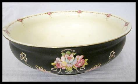 Antique Vintage 1900's Devonware Hand Painted Black & Pink