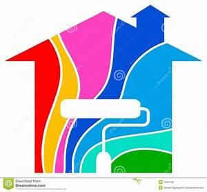 logo a la maison de peinture photo libre de droits image With toit de maison dessin 15 logo de peinture de maison illustration de vecteur image