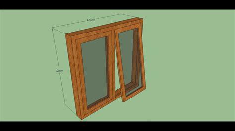Membuat Kusen Jendela Dengan Sketchup Youtube