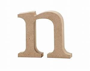 large lowercase wooden mdf letter shape to decorate n With wooden letters and shapes