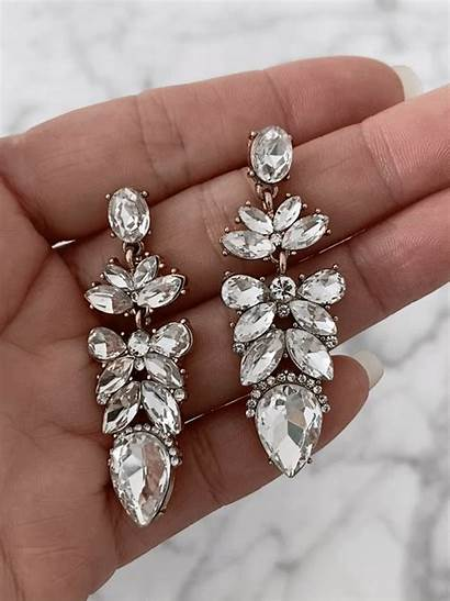 Odessa Drops Earrings Statement Olive Jewelry Bridal