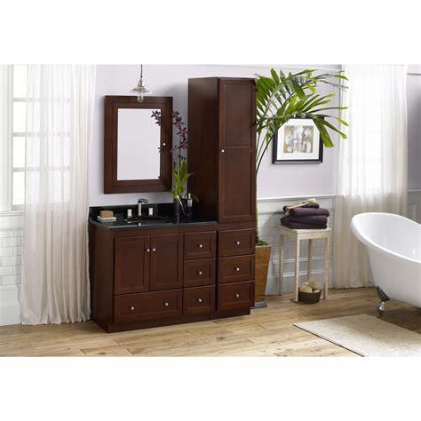 ronbow shaker   bathroom vanity set  dark cherry
