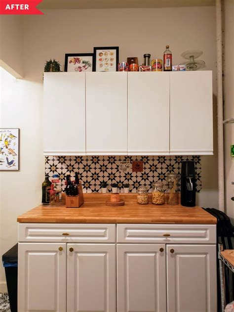 kitchen diy update apartment therapy