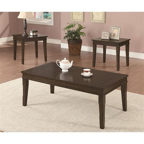 Replete with wooden engraving, beautiful detailing and additional. Brown Wood Coffee Table Set - Steal-A-Sofa Furniture Outlet Los Angeles CA