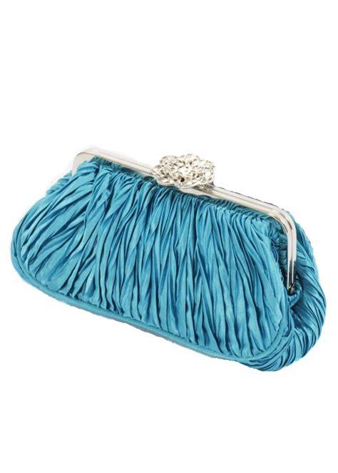 koko designer clutch bag turquoise satin clutch bag