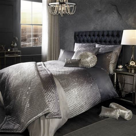 Kylie Minogue   Gia   Duvet Cover Set   Grey   Tonys Textiles
