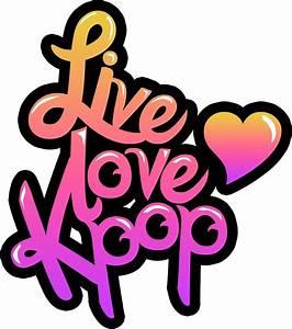 """Live, Love, Kpop (Sticker)"" Stickers by pinkbook Redbubble"