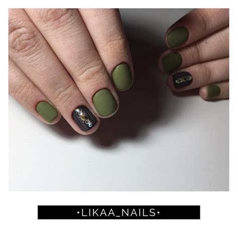 nail polish khaki green