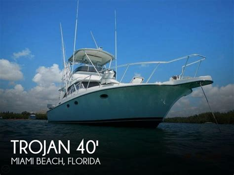 Fishing Boats For Sale Miami Florida by Trojan 12 Meter Convertible Boat For Sale In Miami