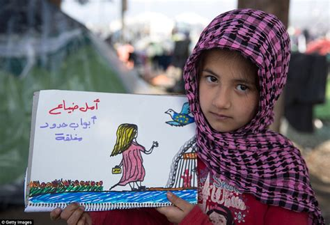 Boat Journey Drawing by Syrian Child Refugee Draws Pictures Of Escape And