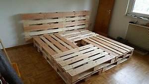 Bett Aus Europaletten : bett aus hochwertigen gehobelten europaletten palettenbett eur 150 00 picclick de ~ Orissabook.com Haus und Dekorationen