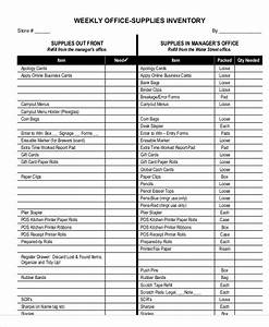 Free Excel Inventory Sheets 7 Office Inventory Templates Free Sample Example