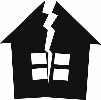 Broken Clipart Cracked Earthquake Building Vector Divorce