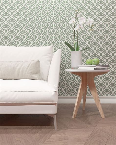 floral pattern stencil modern decor wall stencil leafs