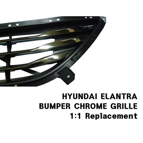 oem front bumper chrome low grille tray trim for hyundai