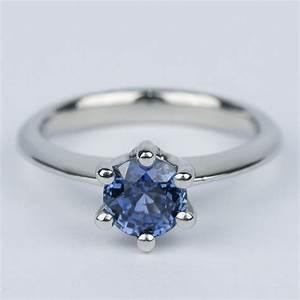 Classic Six Prong Sapphire Gemstone Engagement Ring