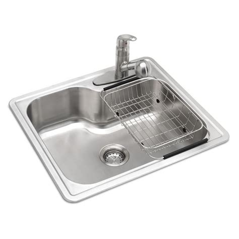 all in one sink glacier bay all in one drop in stainless steel 25 in 3